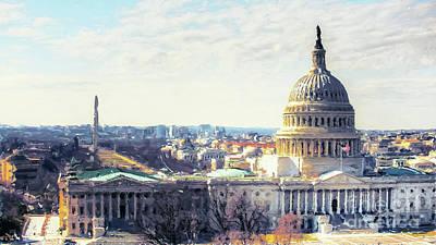 Washington Dc Building 9i8 Original