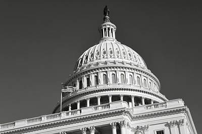 Photograph - Washington Dc Capitol Hill Building Dome by Brandon Bourdages