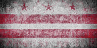 Digital Art - Washington Dc City Flag by JC Findley