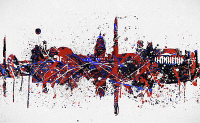 Painting - Washington Dc Colorful Skyline by Dan Sproul