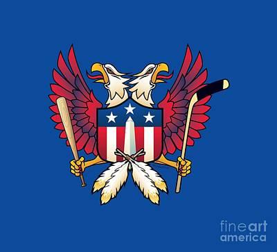 Digital Art - Washington Dc-double Eagle Sports Fan Crest by Joe Barsin