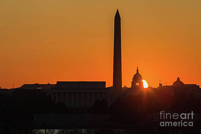 Capitol Building Photograph - Washington Dc Equinox Sunrise II by Clarence Holmes