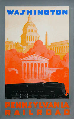 Capitol Drawing - Washington Dc IIi by David Studwell