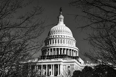 Photograph - Washington Dc In The Winter by Brandon Bourdages