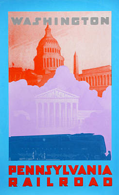 Capitol Building Drawing - Washington Dc Iv by David Studwell