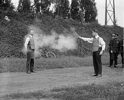 Bsloc Photograph - Washington, D.c. Law Enforcers Test by Everett