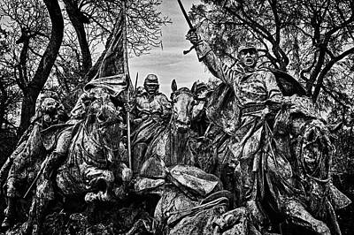 Photograph - Washington Dc Memorial Detail No 19 by Val Black Russian Tourchin
