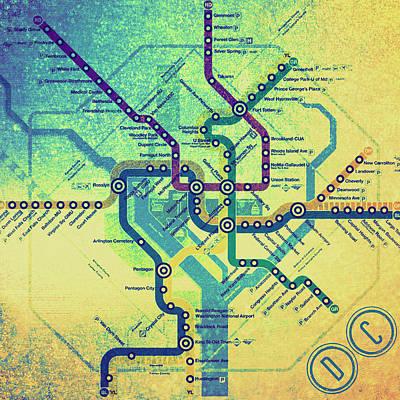 Metro Art Mixed Media - Washington Dc Metro by Brandi Fitzgerald