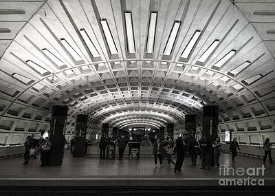Washington Dc Metro Metro Center Stop Art Print