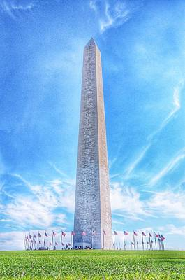 Photograph - Washington D.c. Monument Landscape by Marianna Mills