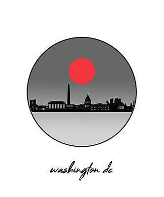 Digital Art - Washington Dc Skyline Minimalism 10 by Bekim Art