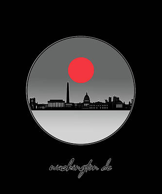 Digital Art - Washington Dc Skyline Minimalism 11 by Bekim Art