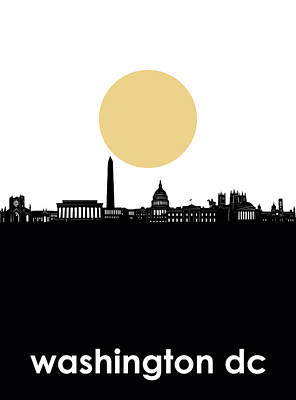 Digital Art - Washington Dc Skyline Minimalism by Bekim Art