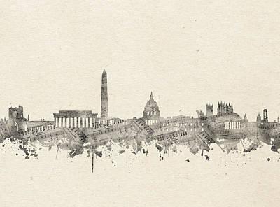 Digital Art - Washington Dc Skyline Music Notes 2 by Bekim Art