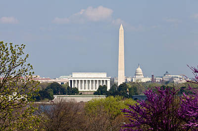 Washington Dc Skyline With Lincoln Memorial Washington Monument Original by Dasha Rosato