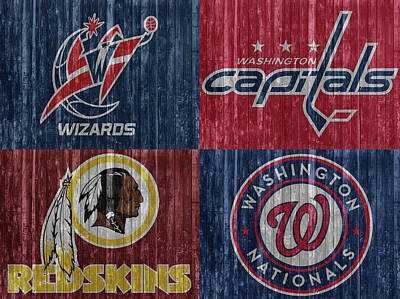 Athletes Mixed Media - Washington DC Sports Teams by Dan Sproul