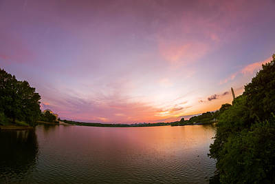 Photograph - Washington D.c. Sunset by Chris Bordeleau