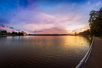 Photograph - Washington D.c Tidal Basin Sunset by Chris Bordeleau