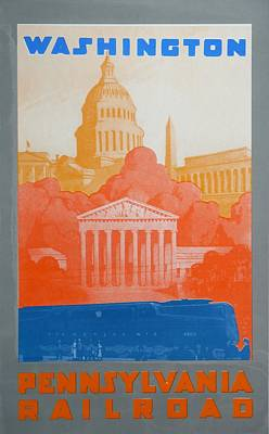 Landmarks Drawing - Washington Dc V by David Studwell