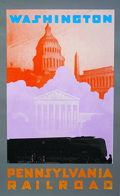 Landmarks Drawing - Washington Dc Vi by David Studwell