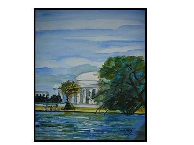 Washington Dc View Art Print by Angela Puglisi