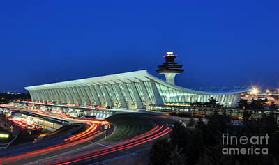 Washington Dulles International Airport At Dusk Art Print