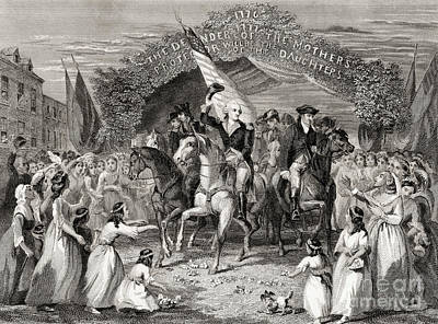 Washington Entering Trenton  New Jersey Usa, 1789 Art Print