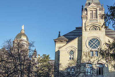 Photograph - Washington Hall And Dome University Of Notre Dame  by John McGraw