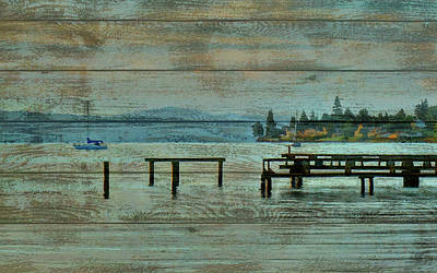 Boating Mixed Media - Washington Harbor Barn Door by Dan Sproul