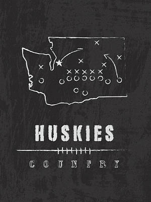 Washington Huskies Country Art Print