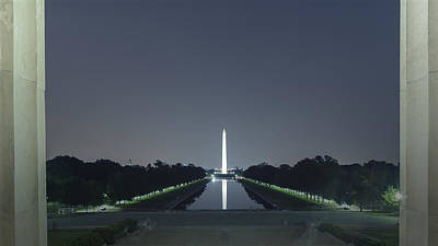 Photograph - Washington Memorial From Lincoln Memorial No. 2 by Belinda Greb
