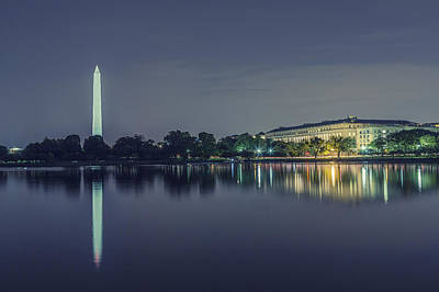 Photograph - Washington Memorial From The Jefferson Memorial Site by Belinda Greb