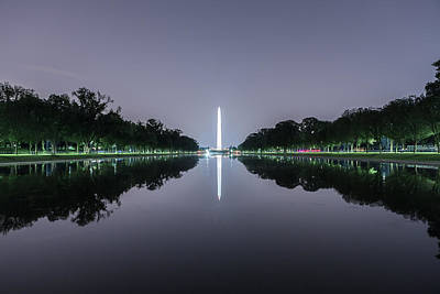 Photograph - Washington Memorial From The Lincoln Memorial No. 1 by Belinda Greb