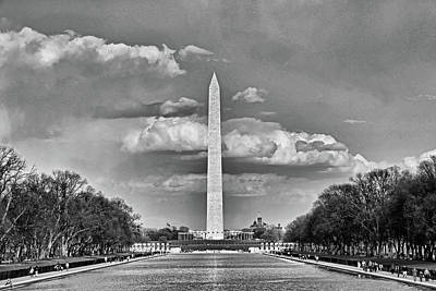 Photograph - Washington Monument # 12 by Allen Beatty
