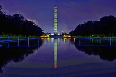Photograph - Washington Monument # 7 by Allen Beatty
