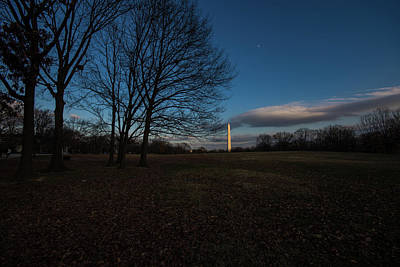 Photograph - Washington Monument At Night by Bill Howard