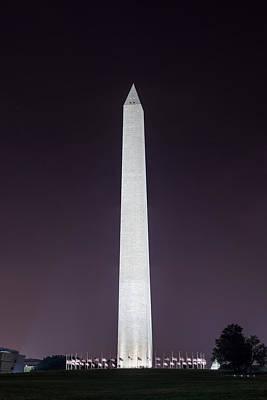Photograph - Washington Monument At Night by Chris Bordeleau