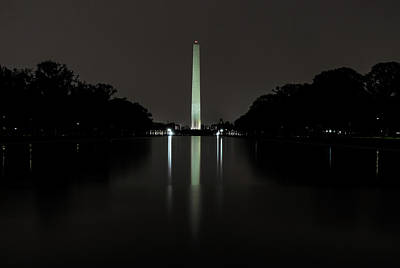 Art Print featuring the photograph Washington Monument At Night by Ed Clark