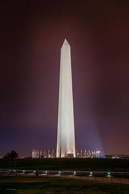 Photograph - Washington Monument At Night by Ross Henton