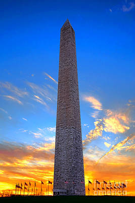 Photograph - Washington Monument At Sunset  by Olivier Le Queinec