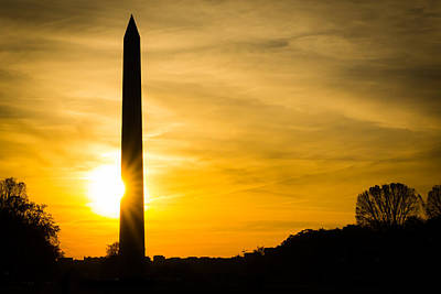Photograph - Washington Monument At Sunset by SR Green