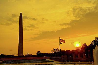 Washington Monument Digital Art - Washington Monument by Christopher Eng-Wong