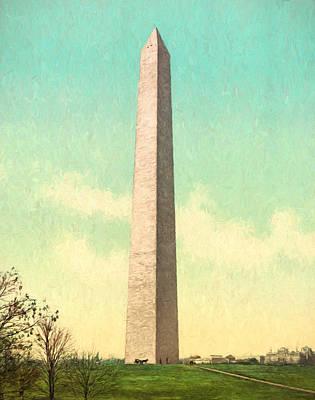 Old Painting - Washington Monument Circa 1903 by John K Woodruff