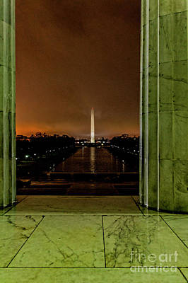 Photograph - Washington Monument From Lincoln Memorial 9481vt by Doug Berry