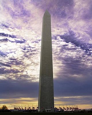 Washington Monument Half Staff Art Print by Rebecca Snyder