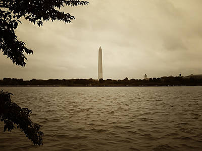 Washington Monument Digital Art - Washington Monument In Sepia by Bill Cannon