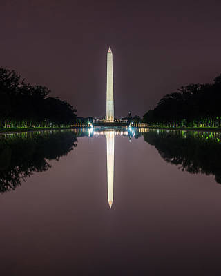 Photograph - Washington Monument   Reflection by Chris Bordeleau