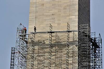 Photograph - Washington Monument Repair Close by Patti Whitten