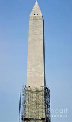 Photograph - Washington Monument Repair by Patti Whitten