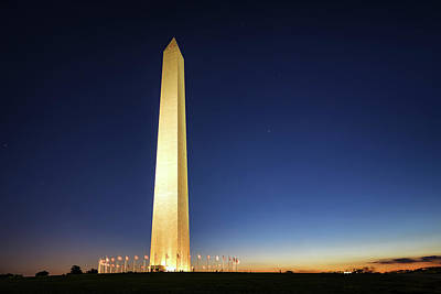 Photograph - Washington Monument by Scott Masterton
